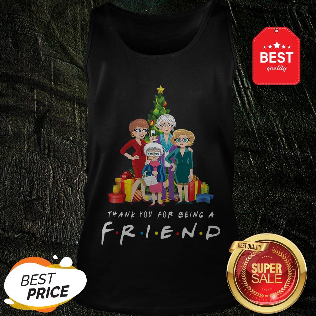 Christmas Tree Golden Girl Thank You For Being A Friends TV Show Tank Top