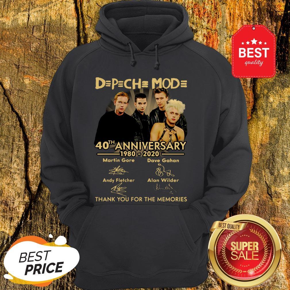Depeche Mode 40th Anniversary 1980 2020 Signature Thank Memories Hoodie