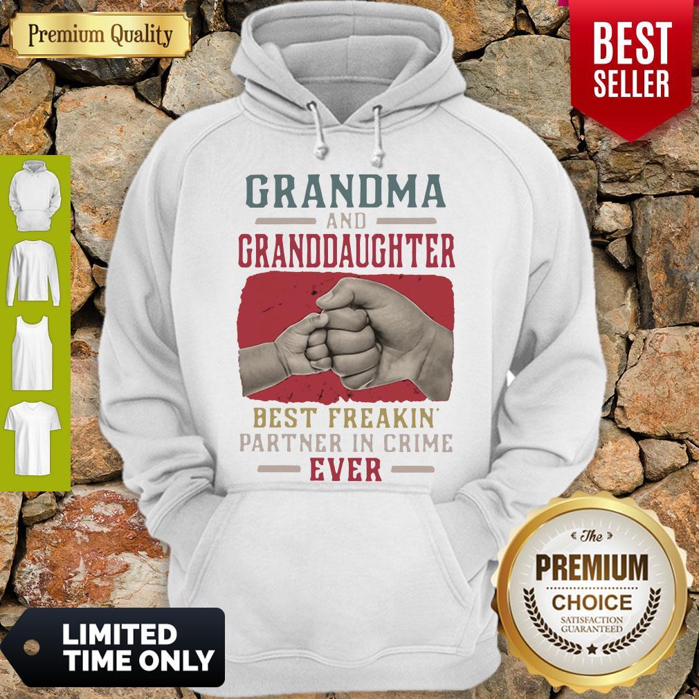 Grandma And Granddaughter Best Freakin Partner In Crime Vintage Hoodie