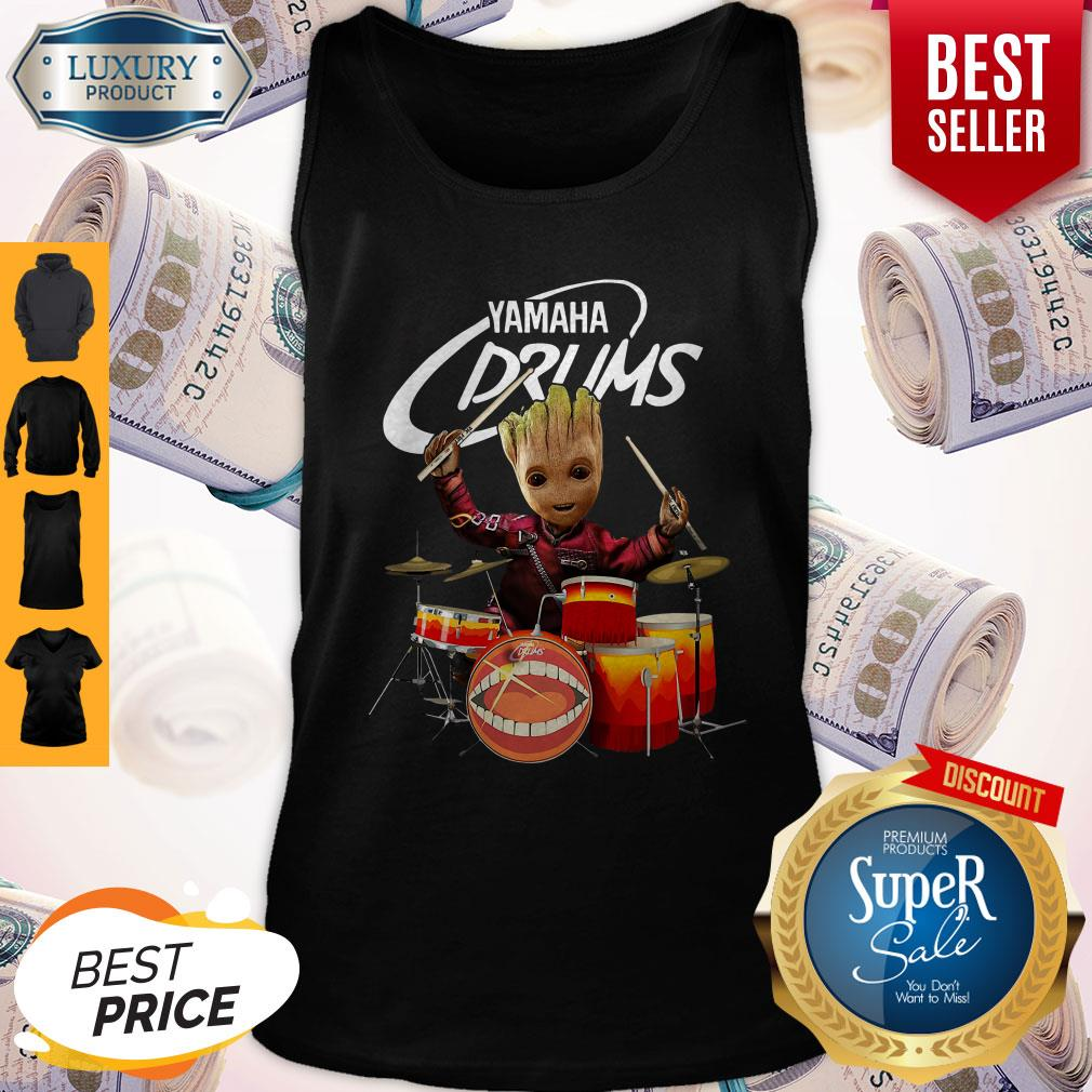 Official Baby Groot Show Animal Yamaha Drums Tank Top