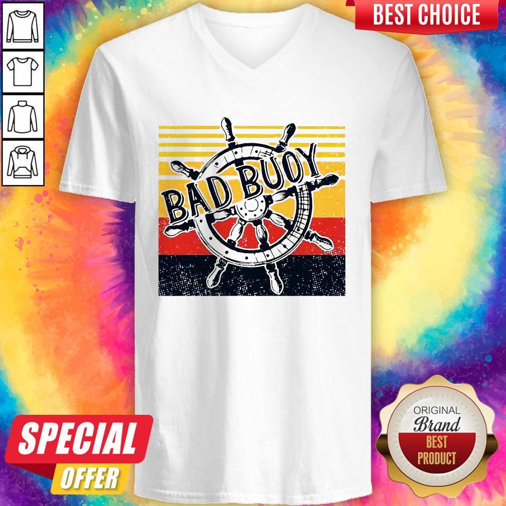 Bad Buoy Nauti Girl Vintage V-neck