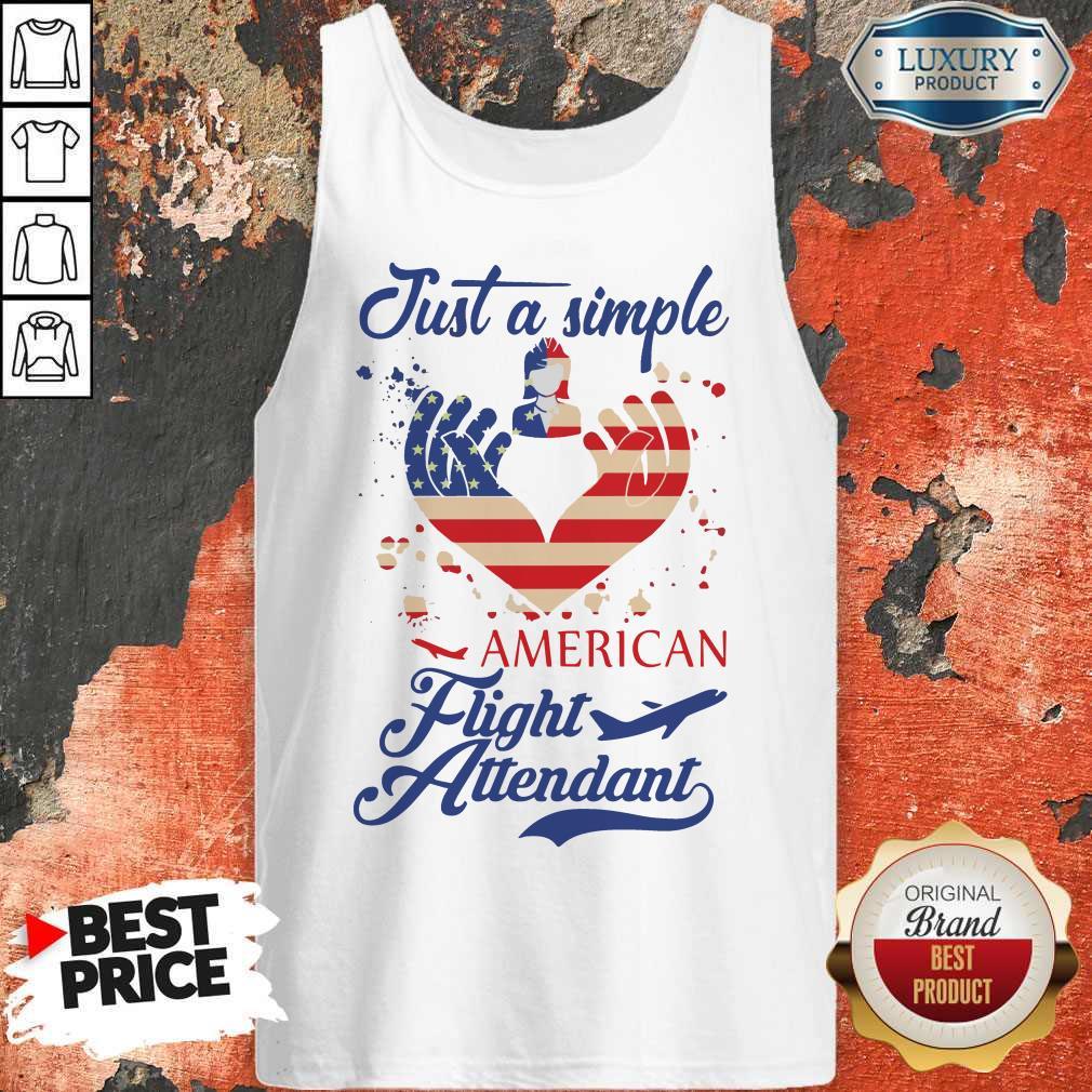 Just A Simple American Flight Attendant Tank Top