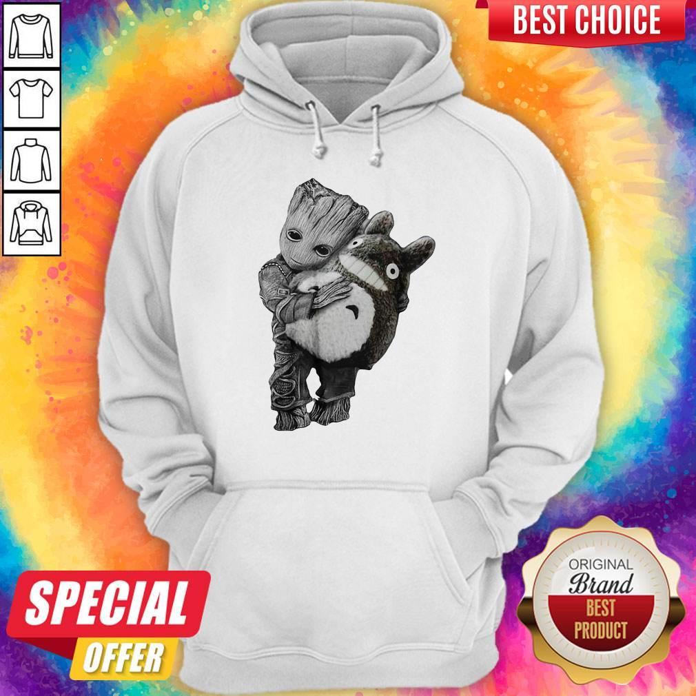 Official Baby Groot Hug Ghibli Hoodie