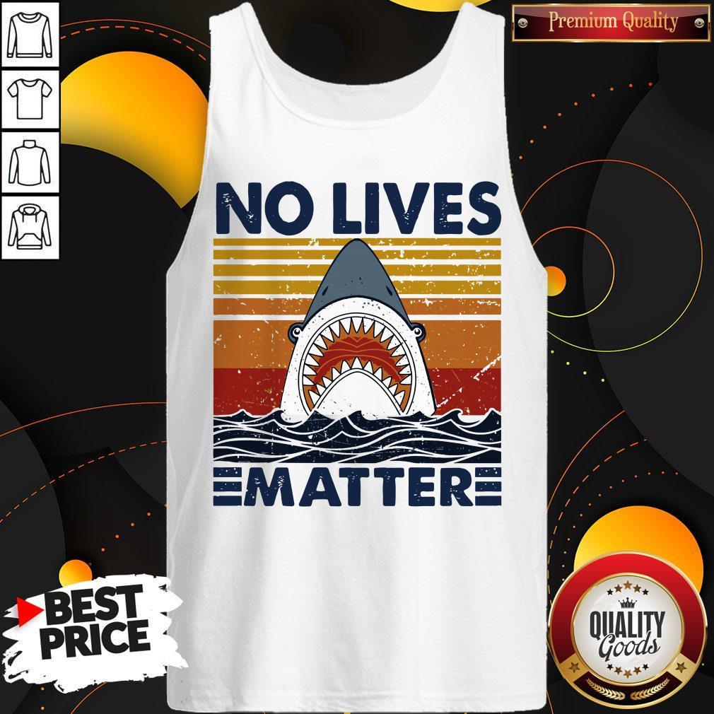 Official Shark No Lives Matter Vintage Tank Top
