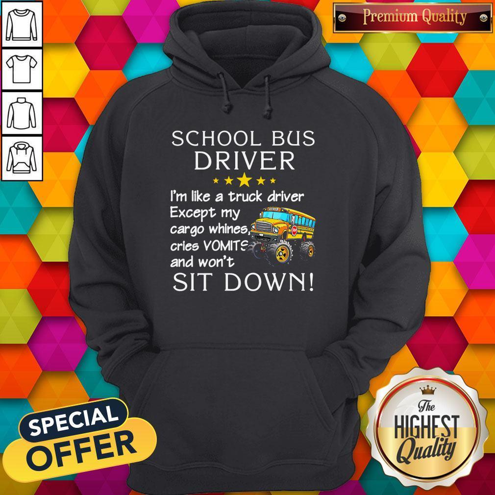School Bus Driver I'm Like A Truck Driver Hoodie