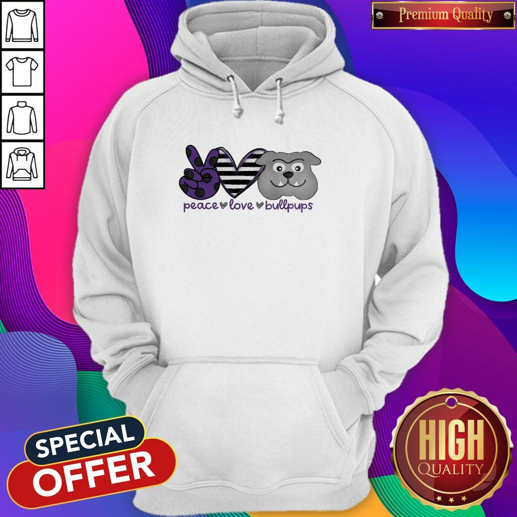 Awesome Peace Love Bullpups Hoodie