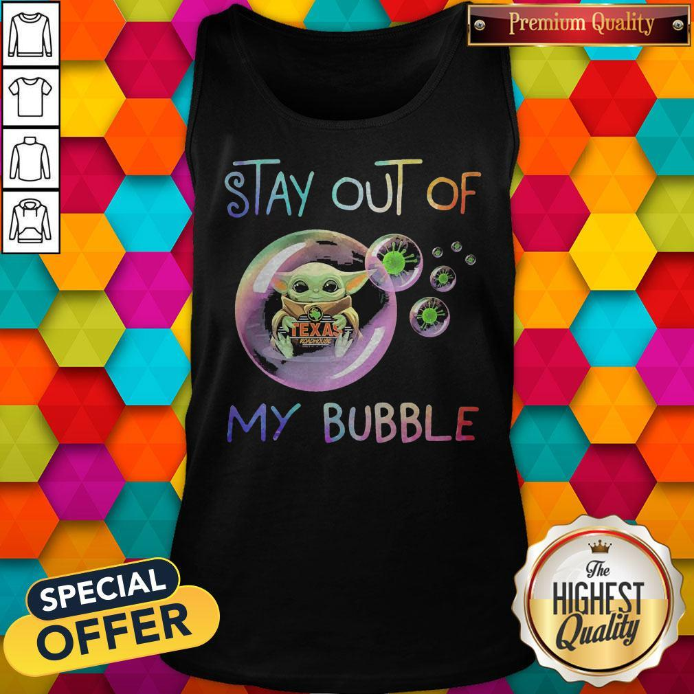 Baby Yoda Hug Texas Roadhouse Stay Out Of My Bubble Tank Top