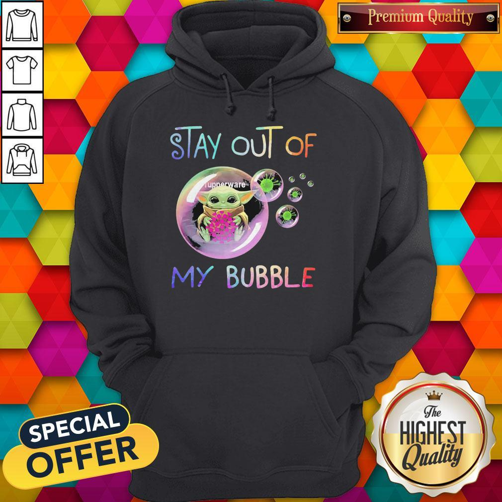 Baby Yoda Hug Tupperware Stay Out Of My Bubble Hoodie