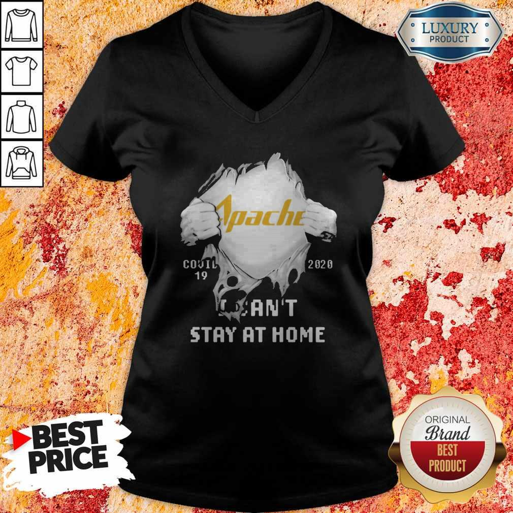 Blood Inside Me Apache Corporation Covid 19 2020 I Can't Stay At Home V-neck