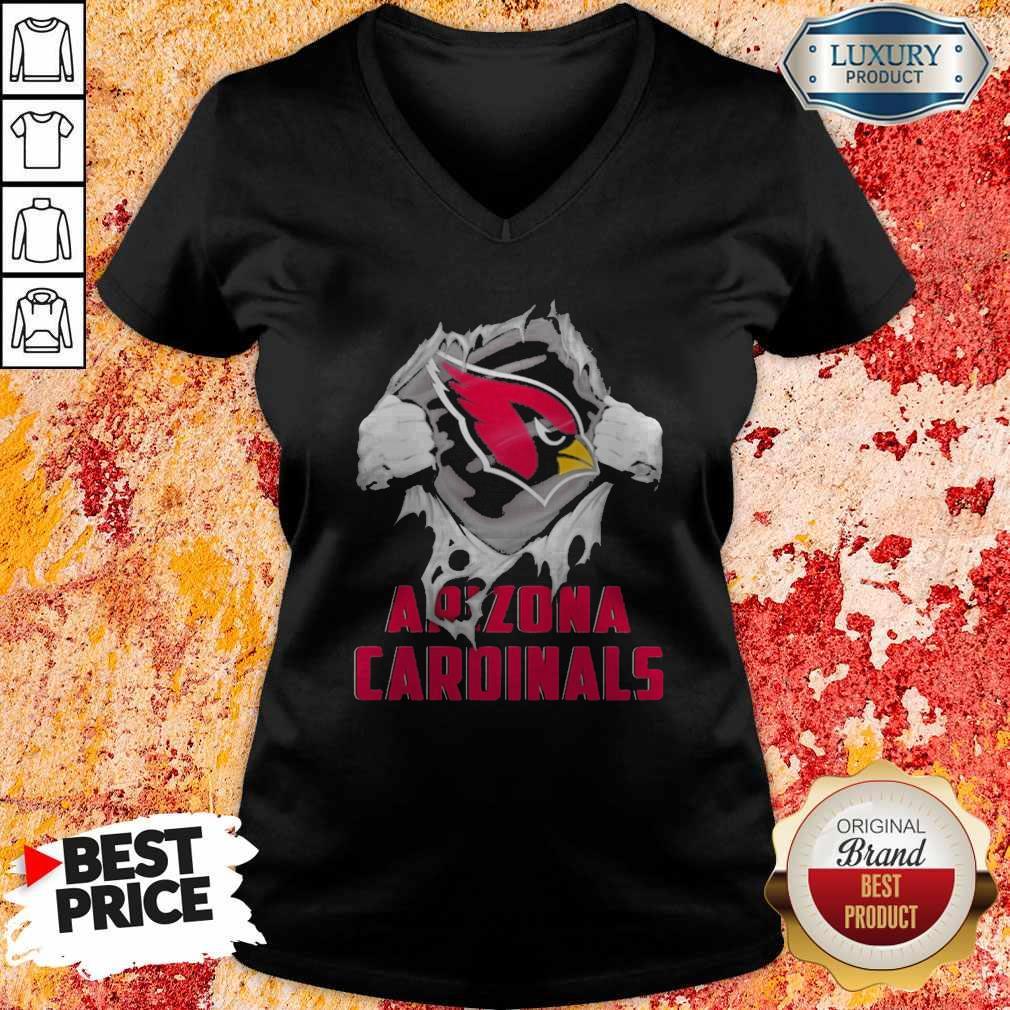Blood Inside Me Arizona Cardinals V-neck