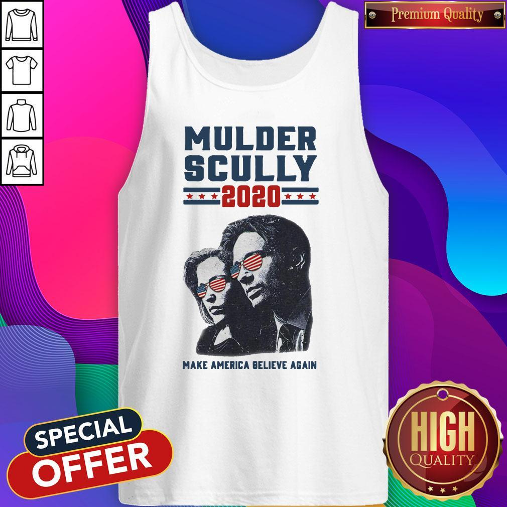 Mulder Scully 2020 Make America Believe Again Sweatshirt