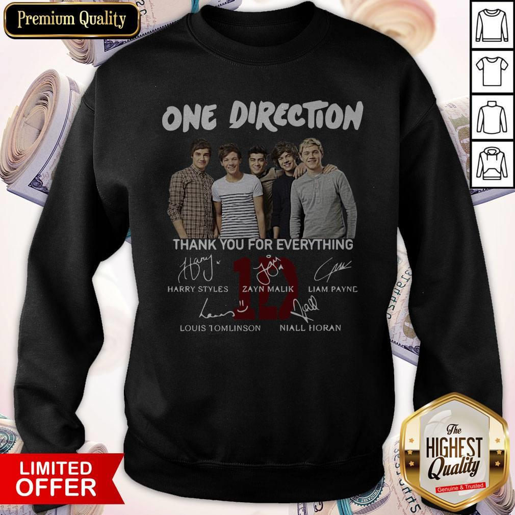 One Direction Thank You For Everything Signature Sweatshirt