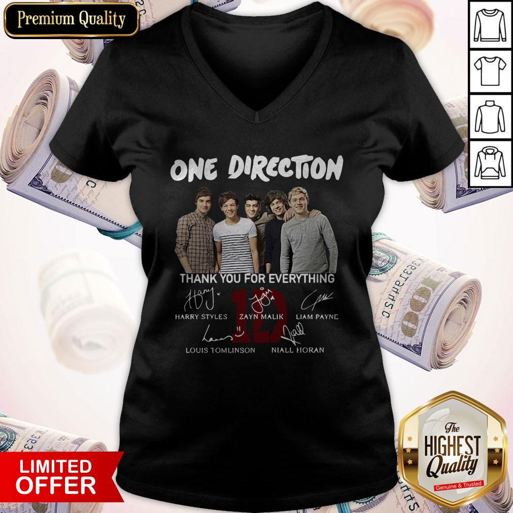 One Direction Thank You For Everything Signature V-neck