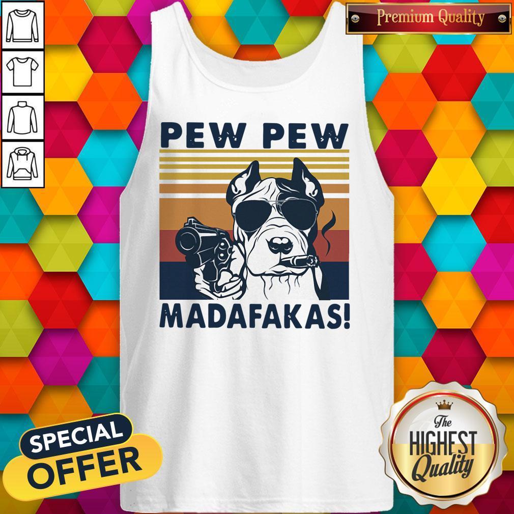Pitbull Smoke Pew Pew Madafakas Vintage Tank Top