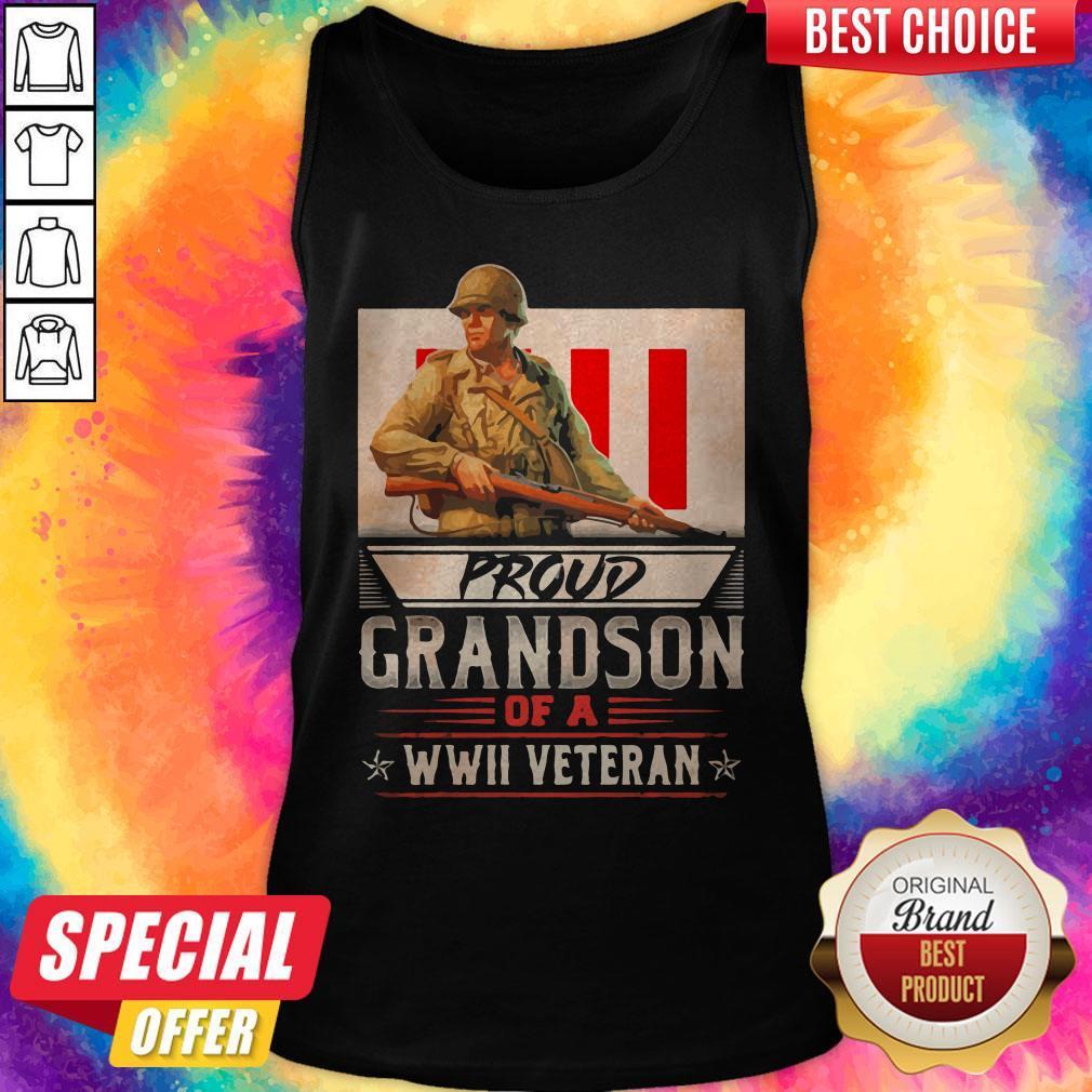 Proud Grandson Of A Wwii Veteran Tank Top