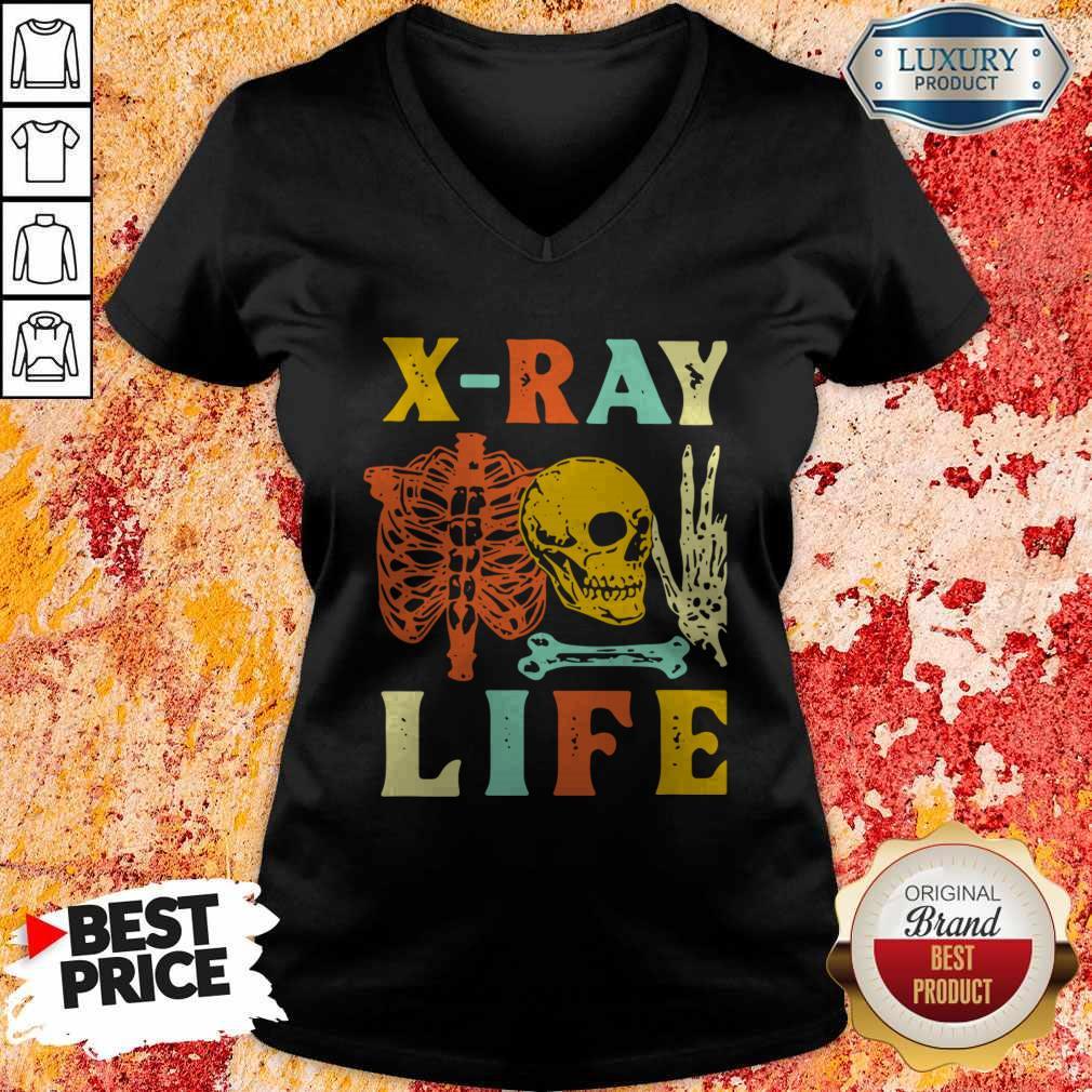 Skeleton X-Ray Life Vintage V-neck