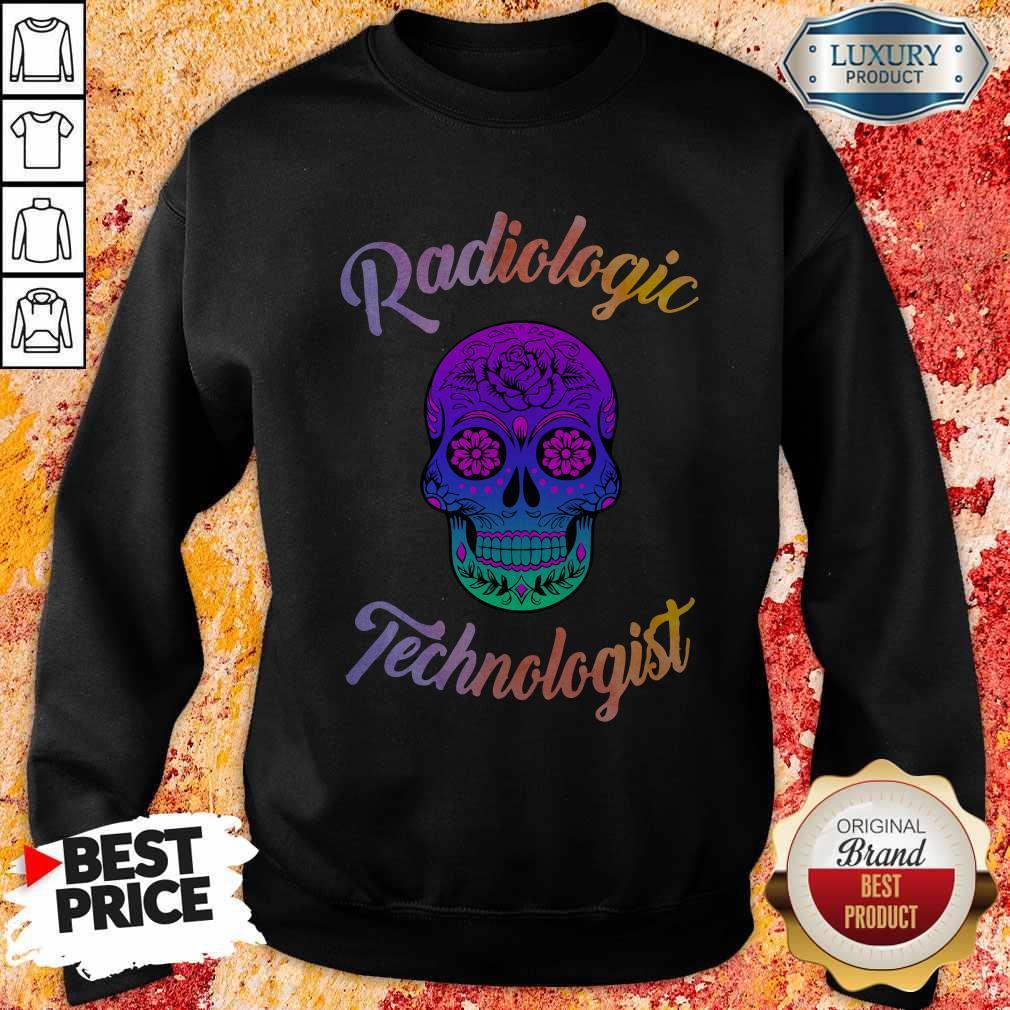 Skull Tattoo Floral Radiologic Technologist Sweatshirt