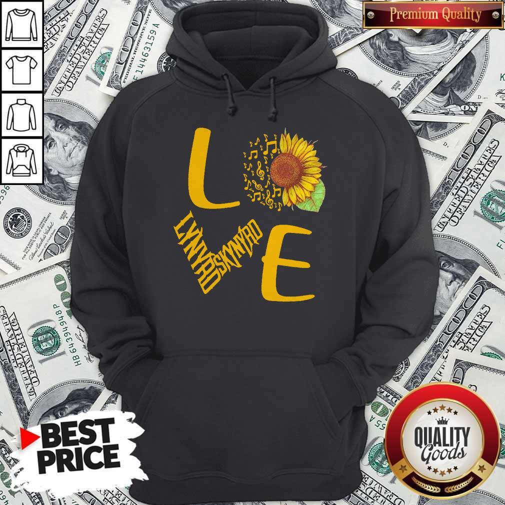 Sunflower And Music Note Love Lynyrd Skynyrd Hoodie