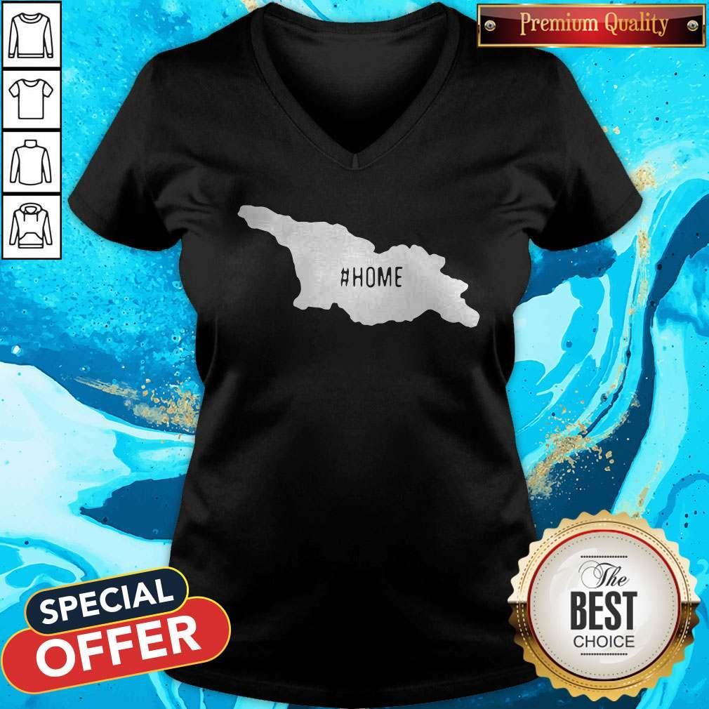 Top Georgia Maps #Home V-neck