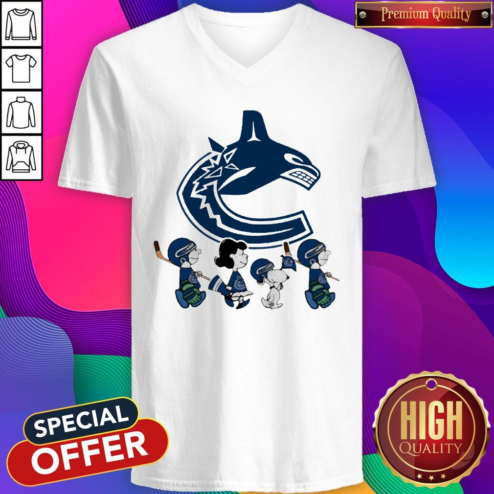 Vancouver Canucks The Peanuts Character V-neck