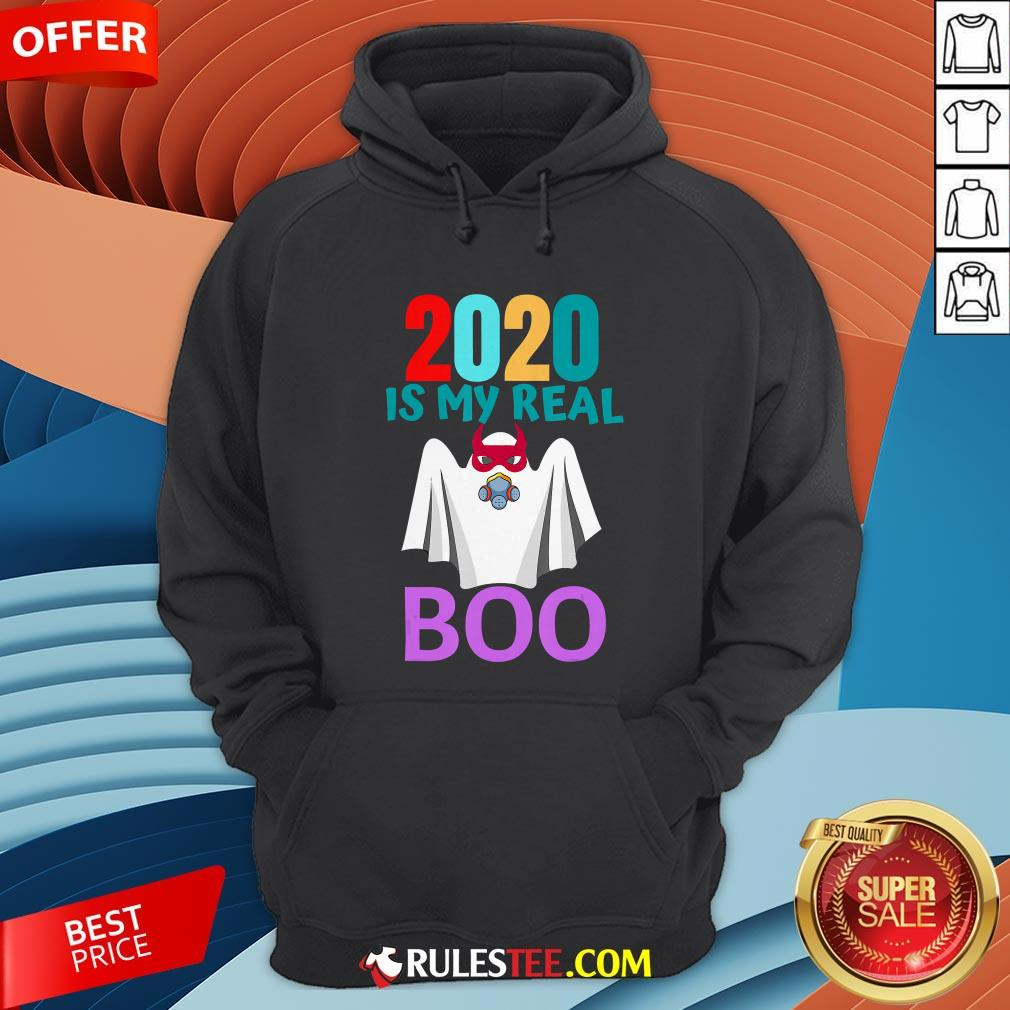 Colorful 2020 Is My Real Boo Ghost Halloween Hoodie - Design By Rulestee.com