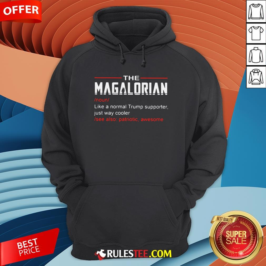 The Magalorian Like A Normal Trump Supporter Just Way Cooler Hoodie - Design By Rulestee.com