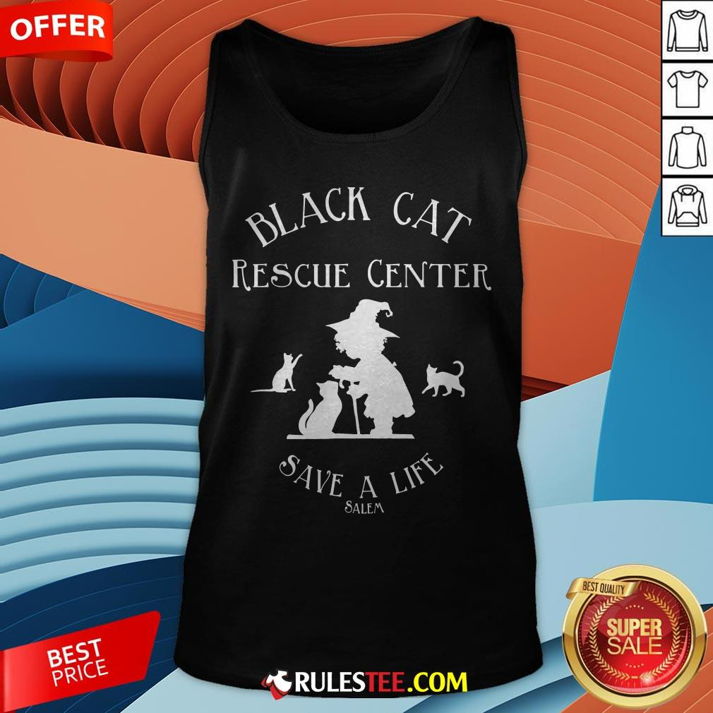 Black Cat Rescue Center Save A Life Salem Witch Halloween Tank Top - Design By Rulestee.com