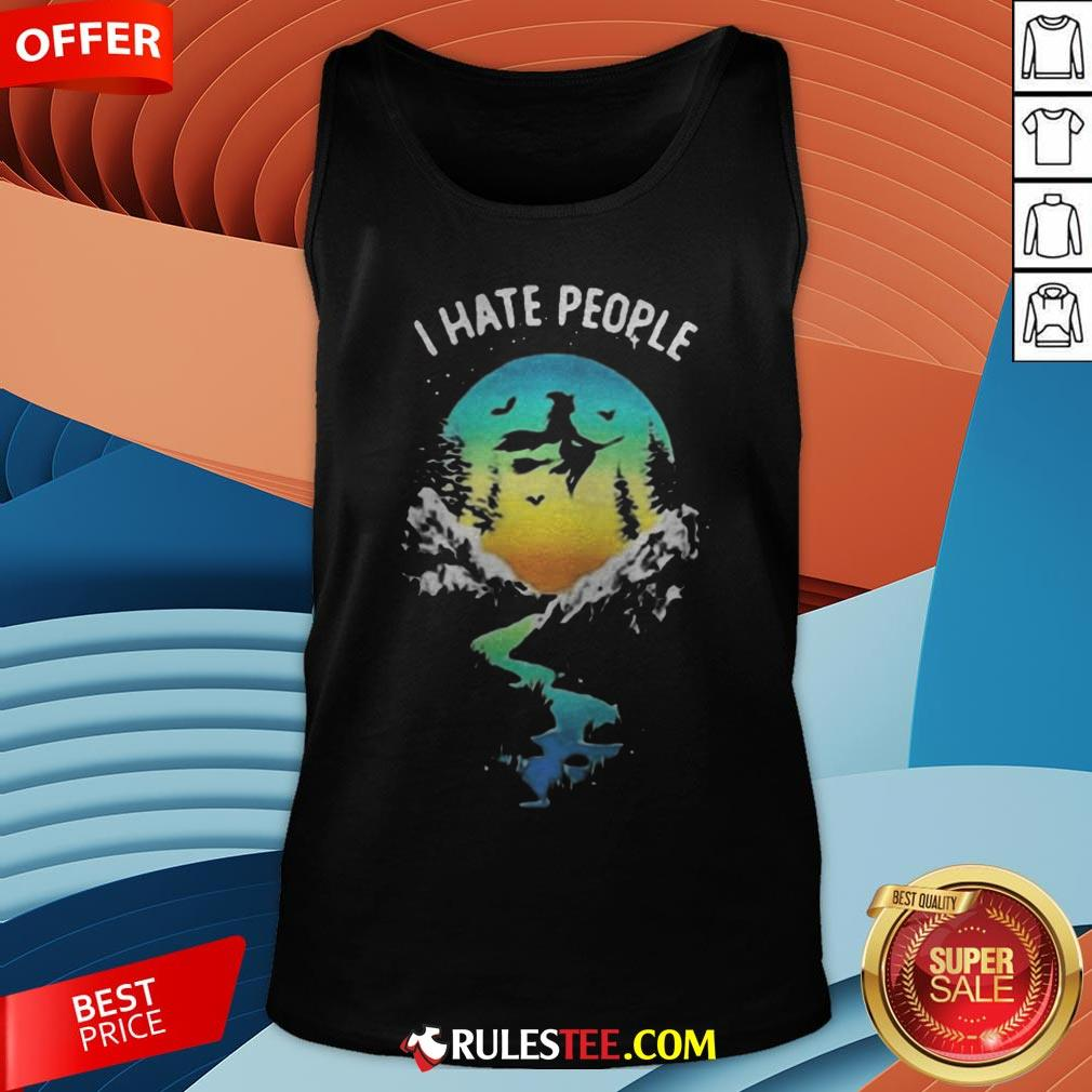 Witch Go Camping I Hate People Halloween Tank Top - Design By Rulestee.com
