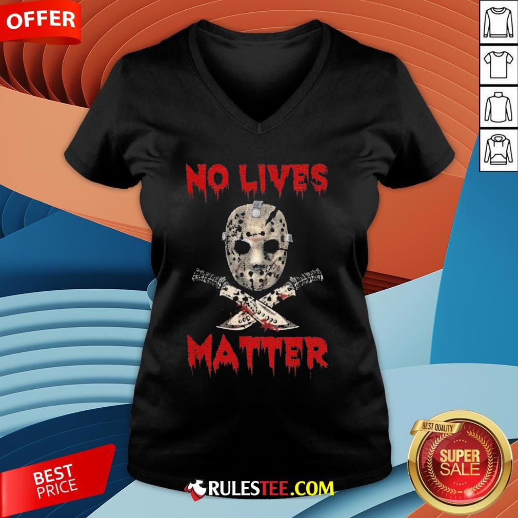 Grateful Jason Voorhees No Lives Matter Halloween V-neck - Design By Rulestee.com
