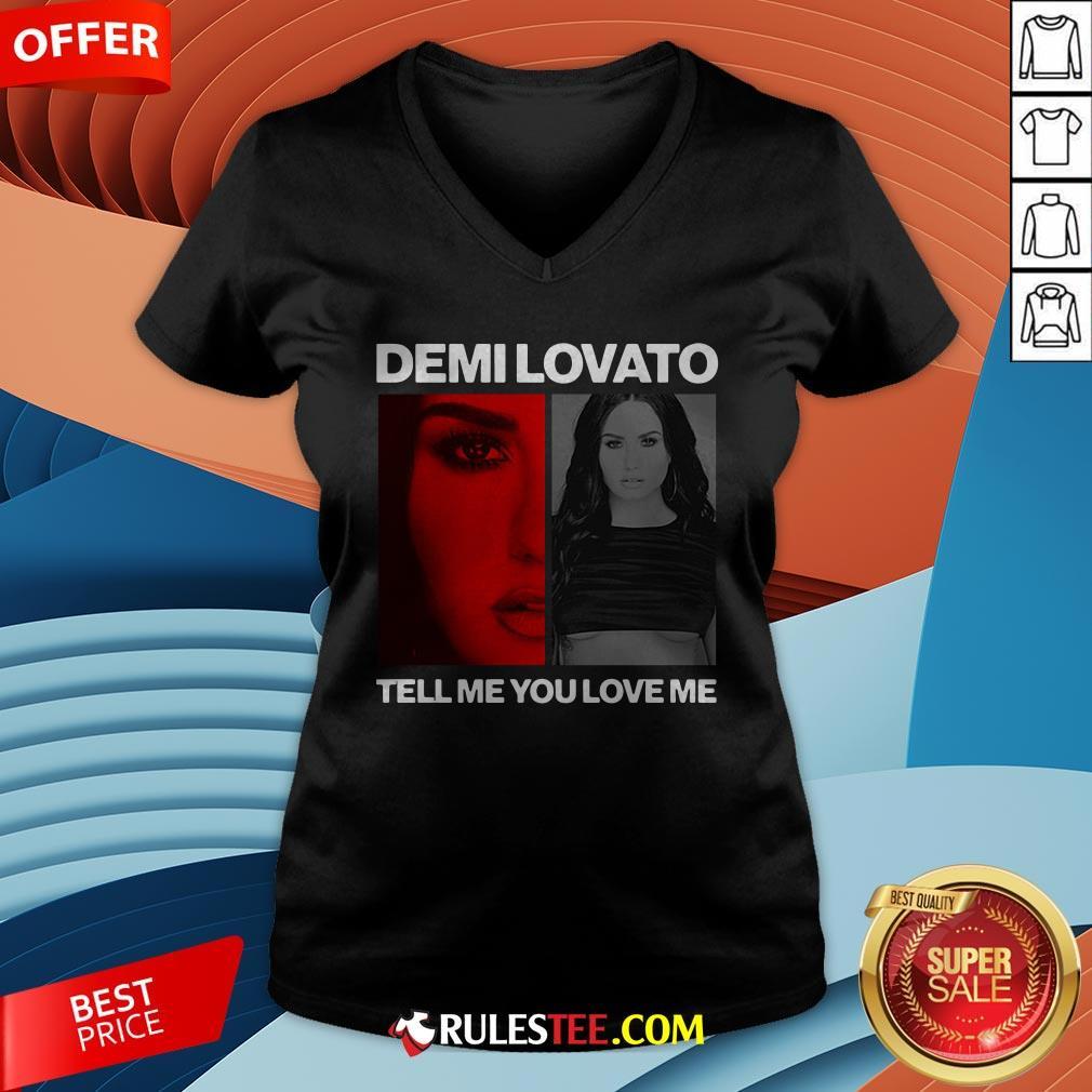 Pretty Demi Lovato Tell Me You Love Me V-neck - Design By Rulestee.com