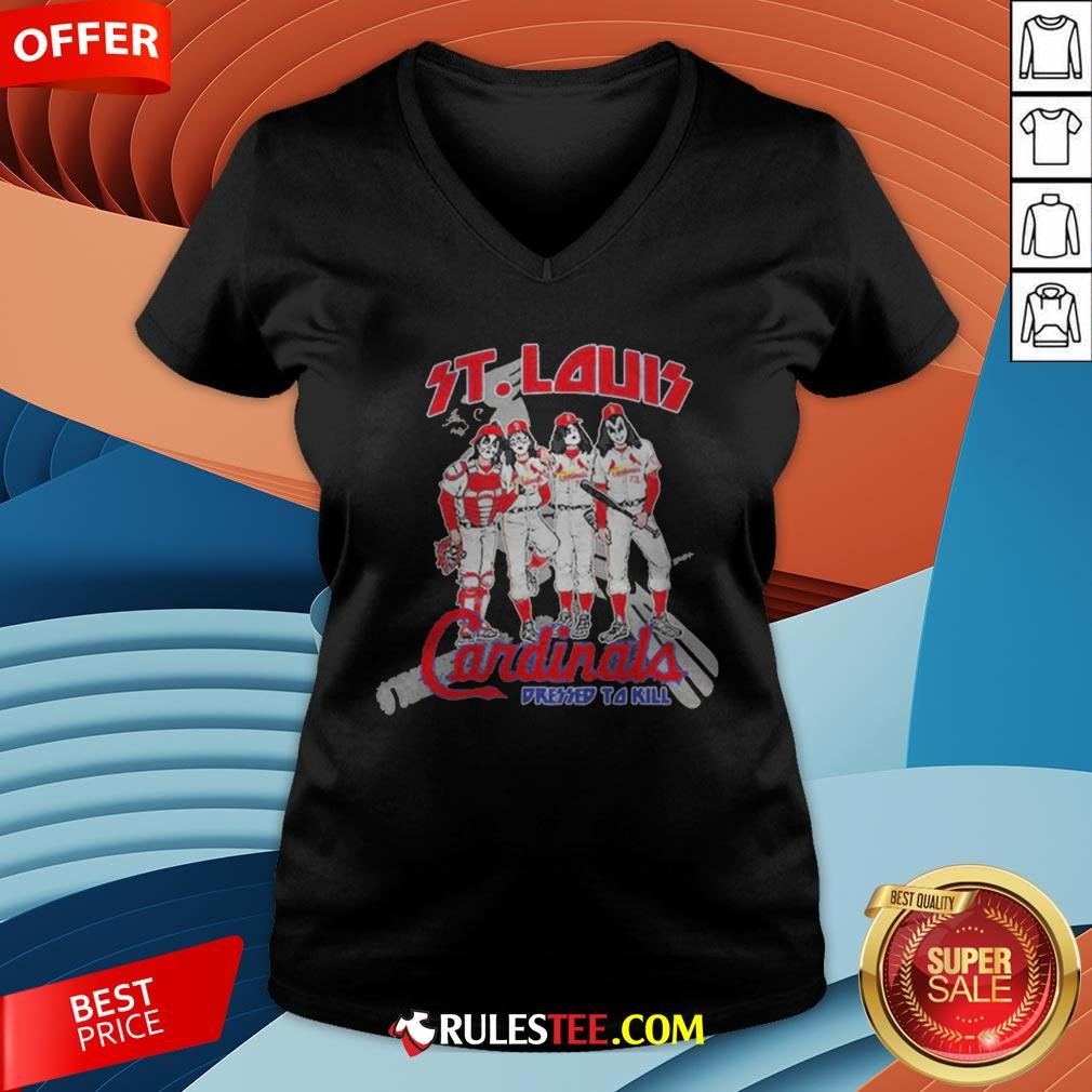 Nice St.Louis Cardinals Dressed To Kill V-neck - Design By Rulestee.com