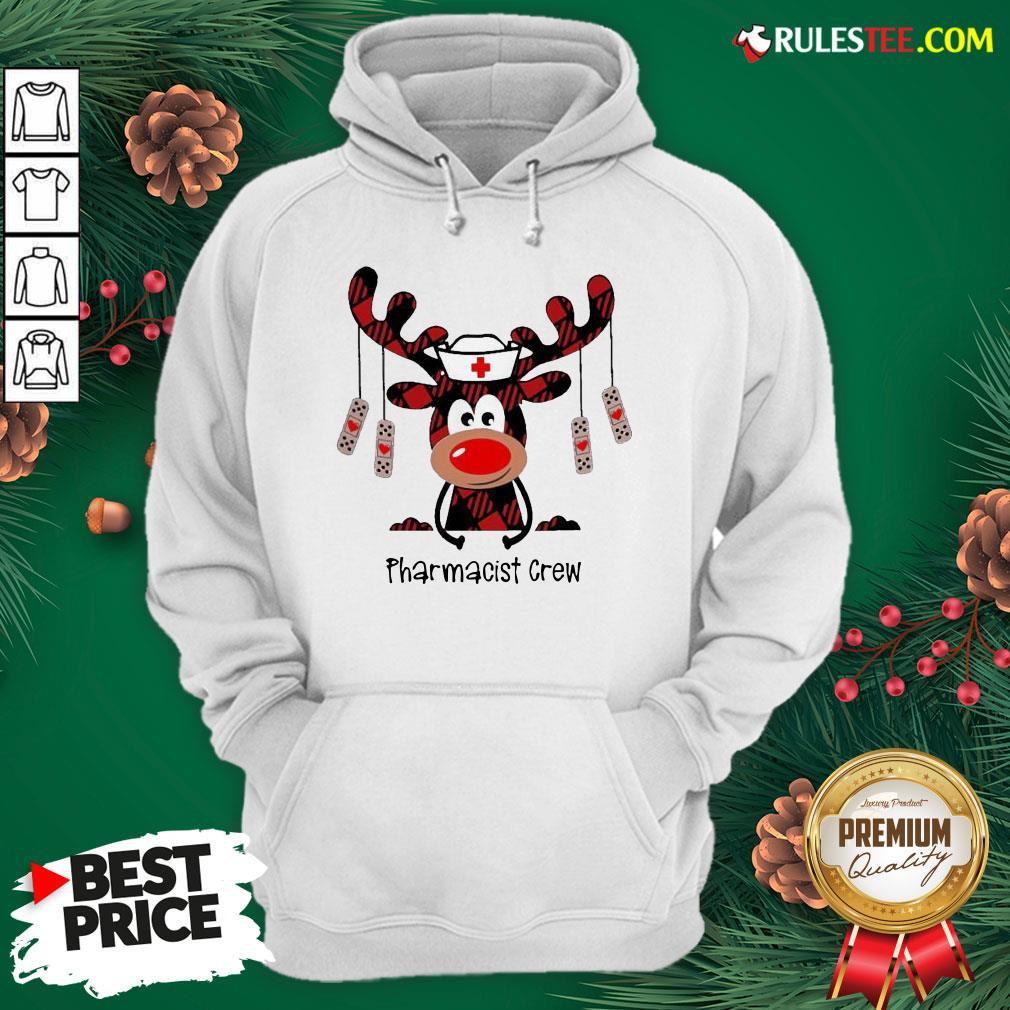 Awesome Plaid Reindeer Pharmacist Crew Christmas Hoodie - Design By Rulestee.com