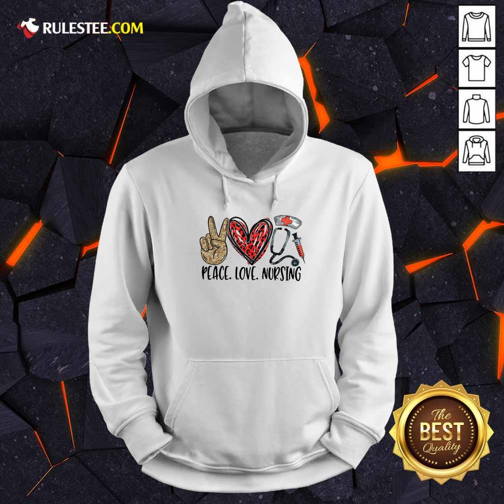 Diamond Peace Love And Nursing 2021 Hoodie - Design By Rulestee.com
