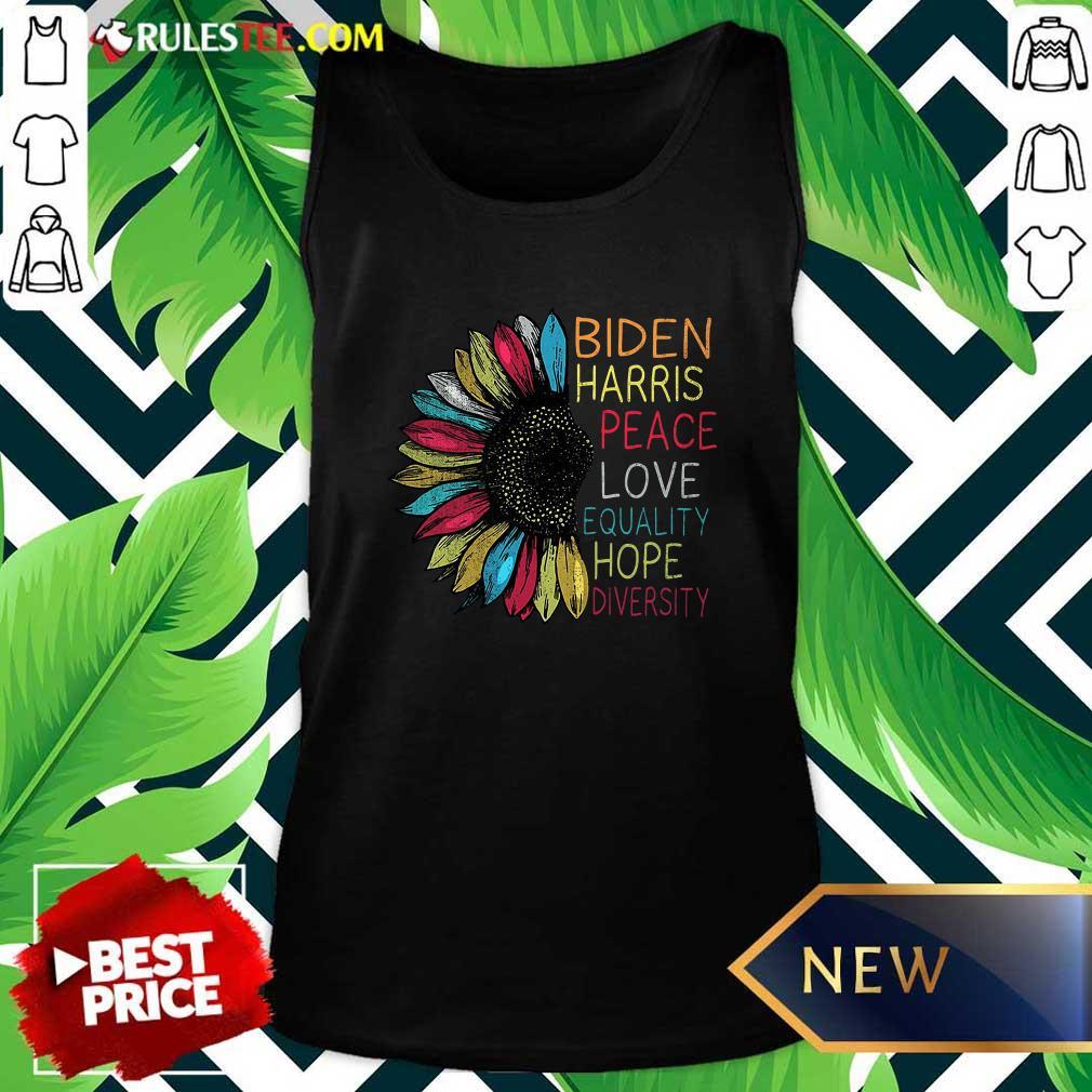 Peace Love Equality Hope Diversity Biden Harris 2020-2024 Tank Top - Design By Rulestee.com