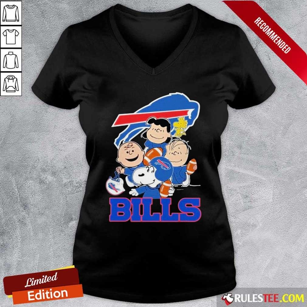 The Buffalo Bills Snoopy The Peanuts Tee Unisex V-neck - Design By Rulestee.com
