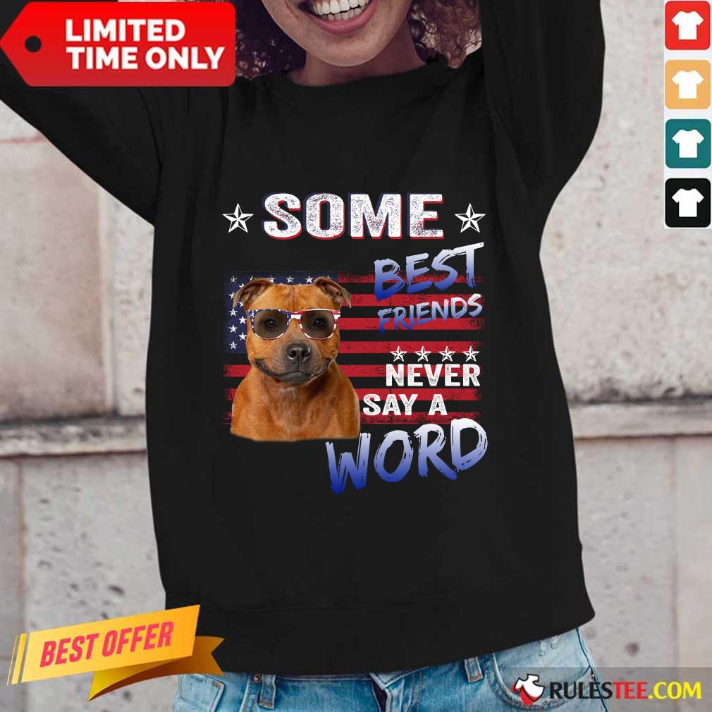 Staffordshire Best Friends Never Say A Word Long-Sleeved