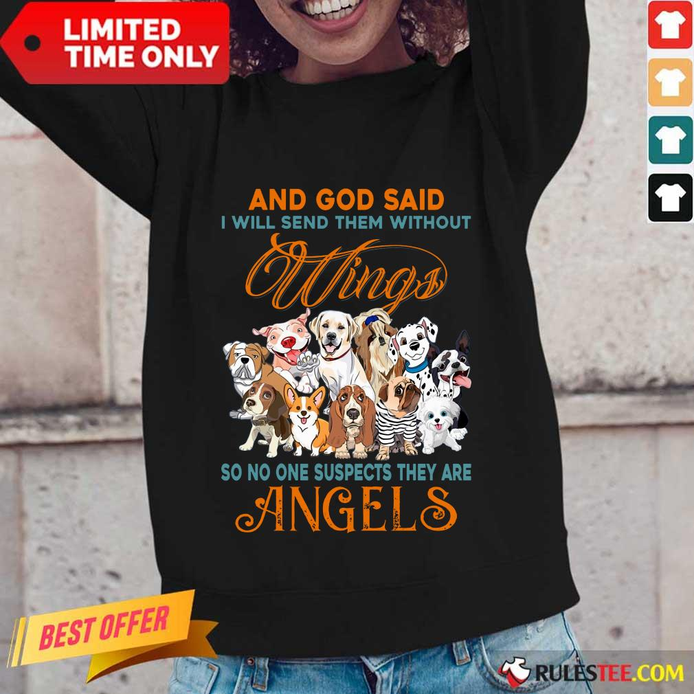 Wings Dog And God Said Angels Long-Sleeved