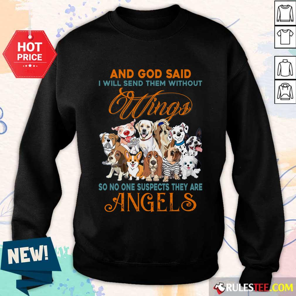 Wings Dog And God Said Angels Sweater