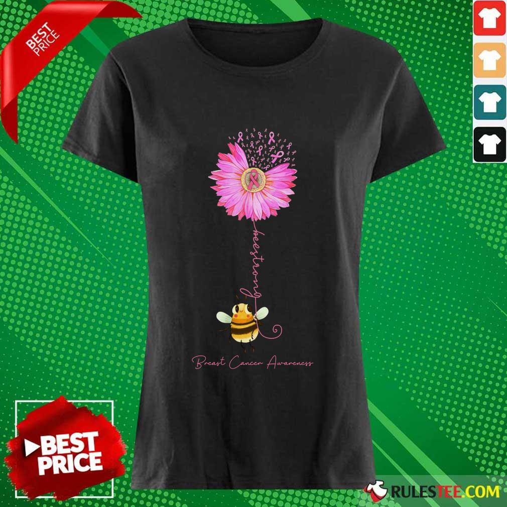Bee Strong Breast Cancer Awareness Ladies Tee