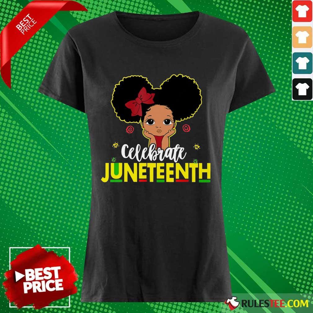 Black Girl Kids Juneteenth Ladies Tee