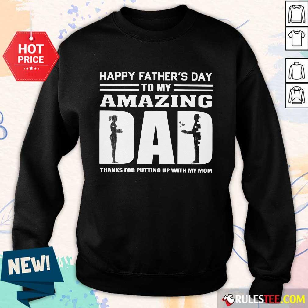 Happy Fathers Day Amazing Dad Sweater