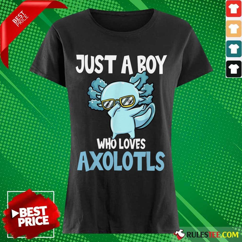 Just A Boy Axolotls Kawaii Ladies Tee