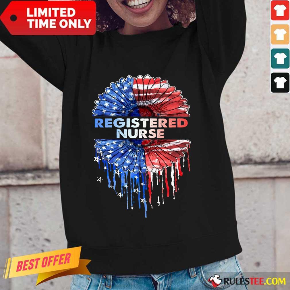 Registered Nurse American Flag Long-Sleeved