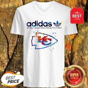 Adidas All Day I Dream About Kansas City Chiefs Champions V-neck