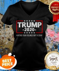 Trump 2020 Hurting Your Feelings Isn't A Crime Shirt V-neck