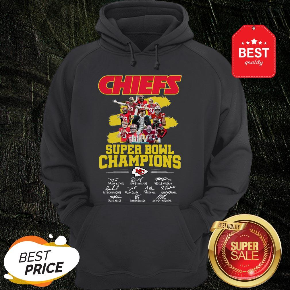 Chiefs Super Bowl Champions Signatures Hoodie
