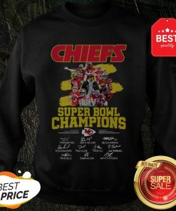 Chiefs Super Bowl Champions Signatures Sweatshirt