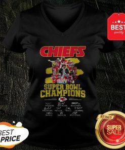 Chiefs Super Bowl Champions Signatures V-neck