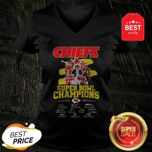 Chiefs Super Bowl Champions Signatures V-neck