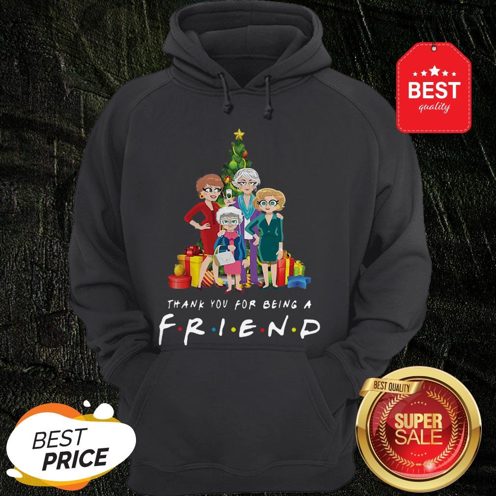 Christmas Tree Golden Girl Thank You For Being A Friends TV Show Hoodie